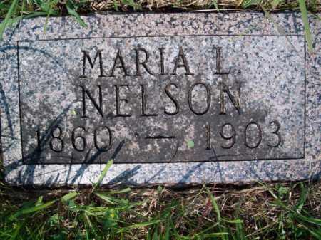 NELSON, MARIA L - Saunders County, Nebraska | MARIA L NELSON - Nebraska Gravestone Photos