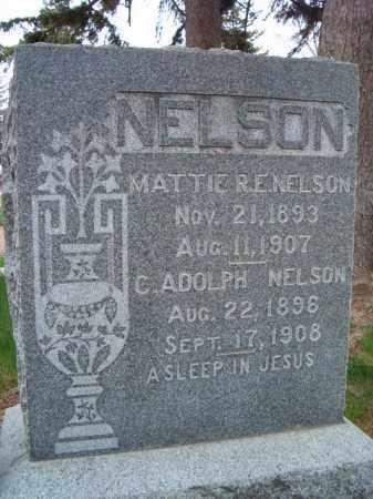 NELSON, MATTIE R. E. - Saunders County, Nebraska | MATTIE R. E. NELSON - Nebraska Gravestone Photos
