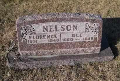 NELSON, FLORENCE - Saunders County, Nebraska | FLORENCE NELSON - Nebraska Gravestone Photos