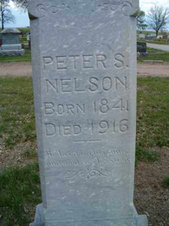 NELSON, PETER S. (CLOSE UP) - Saunders County, Nebraska | PETER S. (CLOSE UP) NELSON - Nebraska Gravestone Photos