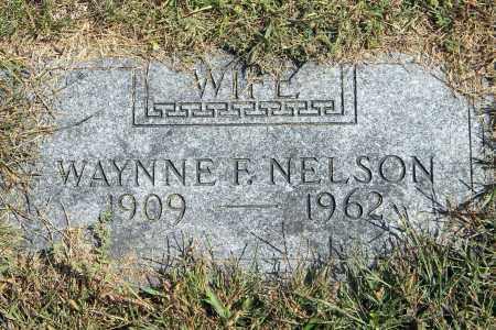 NELSON, WAYNNE F - Saunders County, Nebraska   WAYNNE F NELSON - Nebraska Gravestone Photos