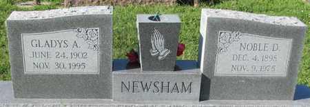 NEWSHAM, NOBLE D - Saunders County, Nebraska | NOBLE D NEWSHAM - Nebraska Gravestone Photos