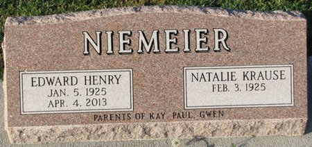 KRAUSE NIEMEIER, NATALIE - Saunders County, Nebraska | NATALIE KRAUSE NIEMEIER - Nebraska Gravestone Photos