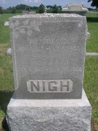 NIGH, MARY A. - Saunders County, Nebraska | MARY A. NIGH - Nebraska Gravestone Photos