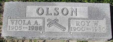 OLSON, VIOLA A. - Saunders County, Nebraska | VIOLA A. OLSON - Nebraska Gravestone Photos