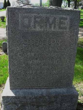 MILLER ORME, MINERVA - Saunders County, Nebraska | MINERVA MILLER ORME - Nebraska Gravestone Photos