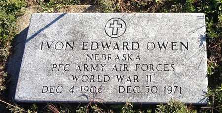 OWEN, IVON EDWARD (MILITARY MARKER) - Saunders County, Nebraska   IVON EDWARD (MILITARY MARKER) OWEN - Nebraska Gravestone Photos