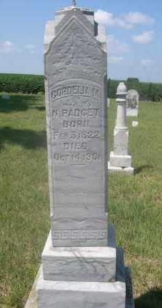 PADGET, CORDELIA M. - Saunders County, Nebraska | CORDELIA M. PADGET - Nebraska Gravestone Photos