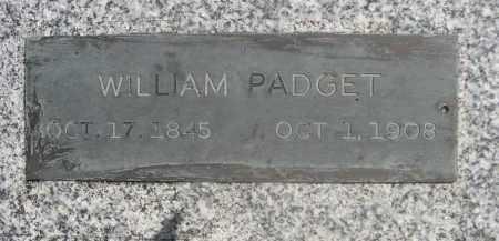PADGET, WILLIAM - Saunders County, Nebraska | WILLIAM PADGET - Nebraska Gravestone Photos