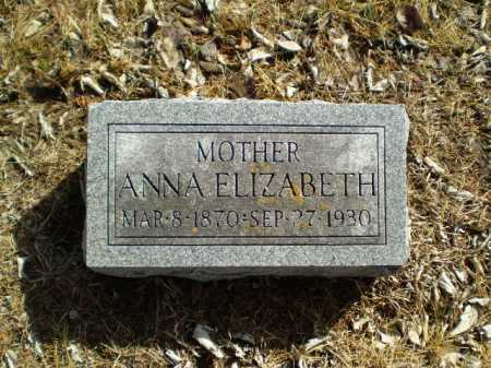 PEGLOW, ANNA ELIZABETH - Saunders County, Nebraska | ANNA ELIZABETH PEGLOW - Nebraska Gravestone Photos