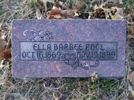BARBEE POOL, ELLA - Saunders County, Nebraska   ELLA BARBEE POOL - Nebraska Gravestone Photos