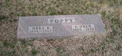 POPPY, ORRA - Saunders County, Nebraska | ORRA POPPY - Nebraska Gravestone Photos