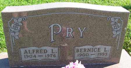 PRY, ALFRED L. - Saunders County, Nebraska   ALFRED L. PRY - Nebraska Gravestone Photos