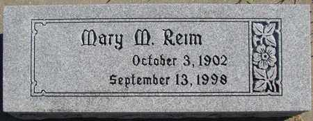 REIM, MARY M. - Saunders County, Nebraska | MARY M. REIM - Nebraska Gravestone Photos