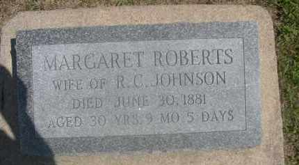 ROBERTS, MARGARET - Saunders County, Nebraska | MARGARET ROBERTS - Nebraska Gravestone Photos