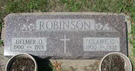 ROBINSON, DELMER O. - Saunders County, Nebraska | DELMER O. ROBINSON - Nebraska Gravestone Photos