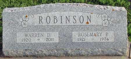 ROBINSON, WARREN D. - Saunders County, Nebraska | WARREN D. ROBINSON - Nebraska Gravestone Photos