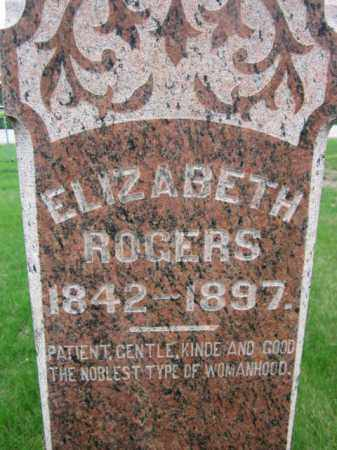 ROGERS, ELIZABETH (CLOSE UP) - Saunders County, Nebraska | ELIZABETH (CLOSE UP) ROGERS - Nebraska Gravestone Photos