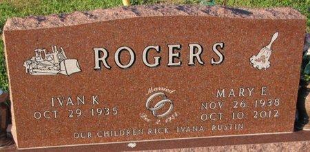 ROGERS, IVAN K. - Saunders County, Nebraska | IVAN K. ROGERS - Nebraska Gravestone Photos
