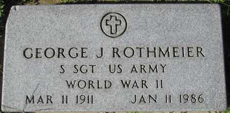 ROTHMEIER, GEORGE J. - Saunders County, Nebraska | GEORGE J. ROTHMEIER - Nebraska Gravestone Photos