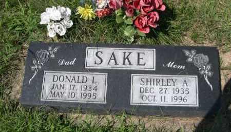 SAKE, DONALD L. - Saunders County, Nebraska   DONALD L. SAKE - Nebraska Gravestone Photos