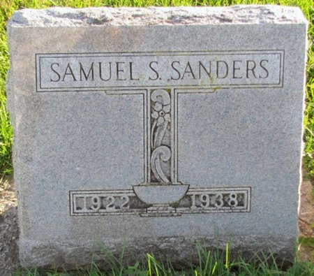 SANDERS, SAMUEL S. - Saunders County, Nebraska | SAMUEL S. SANDERS - Nebraska Gravestone Photos
