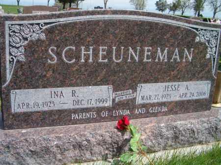 SCHEUNEMAN, JESSE A. - Saunders County, Nebraska | JESSE A. SCHEUNEMAN - Nebraska Gravestone Photos