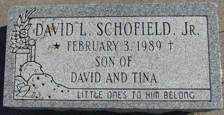 SCHOFIELD, JR., DAVID L. - Saunders County, Nebraska | DAVID L. SCHOFIELD, JR. - Nebraska Gravestone Photos