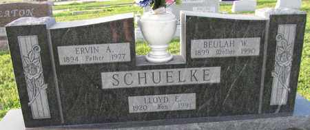 SCHUELKE, ERVIN A. - Saunders County, Nebraska | ERVIN A. SCHUELKE - Nebraska Gravestone Photos