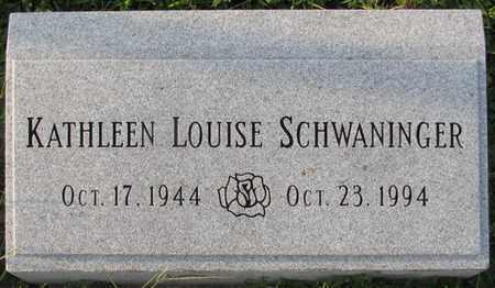 SCHWANINGER, KATHLEEN LOUISE - Saunders County, Nebraska   KATHLEEN LOUISE SCHWANINGER - Nebraska Gravestone Photos