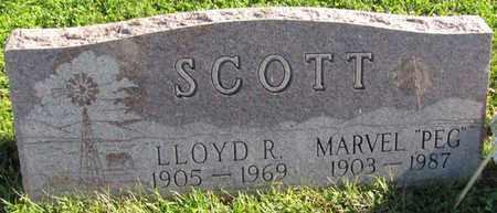 "SCOTT, MARVEL ""PEG"" - Saunders County, Nebraska | MARVEL ""PEG"" SCOTT - Nebraska Gravestone Photos"