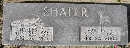 SHAFER, CHARLES G. - Saunders County, Nebraska | CHARLES G. SHAFER - Nebraska Gravestone Photos