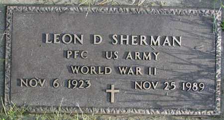 SHERMAN, LEON D. (MILITARY MARKER) - Saunders County, Nebraska | LEON D. (MILITARY MARKER) SHERMAN - Nebraska Gravestone Photos