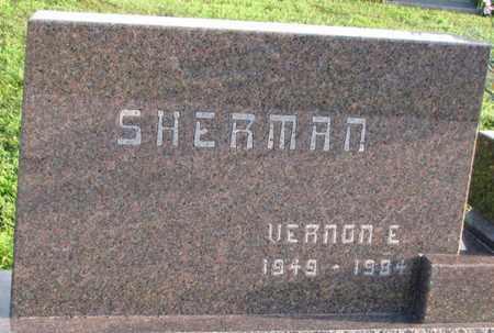 SHERMAN, VERNON E. - Saunders County, Nebraska   VERNON E. SHERMAN - Nebraska Gravestone Photos