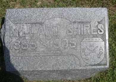 SHIRES, MILLARD - Saunders County, Nebraska | MILLARD SHIRES - Nebraska Gravestone Photos