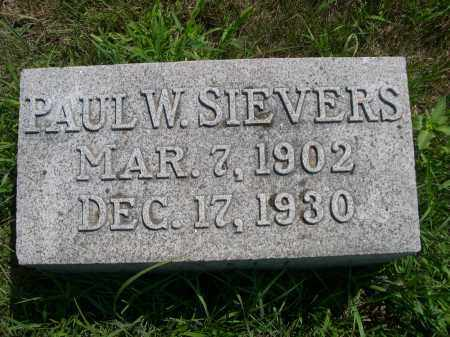 SIEVERS, PAUL W. - Saunders County, Nebraska | PAUL W. SIEVERS - Nebraska Gravestone Photos