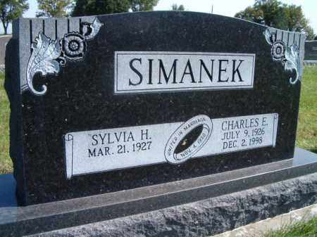 SIMANEK, CHARLES E. - Saunders County, Nebraska | CHARLES E. SIMANEK - Nebraska Gravestone Photos