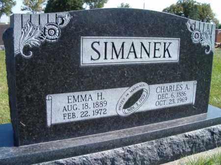 SIMANEK, EMMA H. - Saunders County, Nebraska   EMMA H. SIMANEK - Nebraska Gravestone Photos