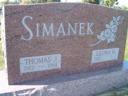 SIMANEK, THOMAS J. - Saunders County, Nebraska | THOMAS J. SIMANEK - Nebraska Gravestone Photos