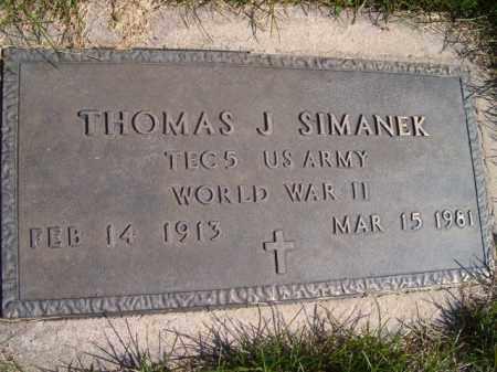 SIMANEK, THOMAS J. (MILITARY MARKER) - Saunders County, Nebraska | THOMAS J. (MILITARY MARKER) SIMANEK - Nebraska Gravestone Photos