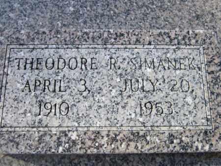 SIMANEK, THEODORE R. - Saunders County, Nebraska | THEODORE R. SIMANEK - Nebraska Gravestone Photos