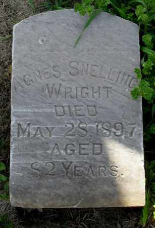 CRAY SNELLING, AGNES - Saunders County, Nebraska | AGNES CRAY SNELLING - Nebraska Gravestone Photos