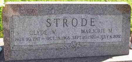 STRODE, CLYDE W. - Saunders County, Nebraska   CLYDE W. STRODE - Nebraska Gravestone Photos