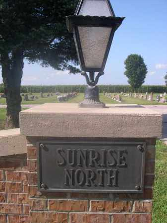 *SUNRISE NORTH CEMETERY, SIGN FOR - Saunders County, Nebraska   SIGN FOR *SUNRISE NORTH CEMETERY - Nebraska Gravestone Photos