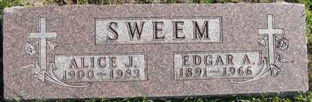SWEEM, ALICE J. - Saunders County, Nebraska | ALICE J. SWEEM - Nebraska Gravestone Photos