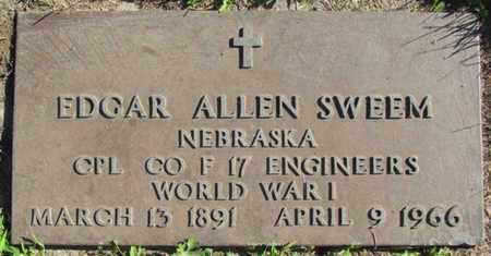 SWEEM, EDGAR ALLEN (MILITARY MARKER) - Saunders County, Nebraska | EDGAR ALLEN (MILITARY MARKER) SWEEM - Nebraska Gravestone Photos