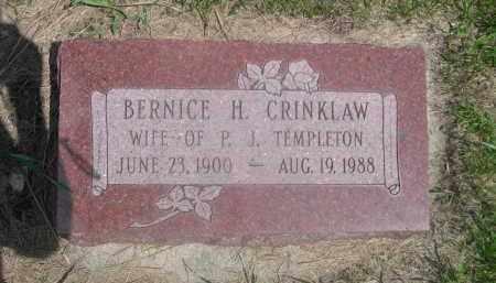 TEMPLETON, BERNICE H. - Saunders County, Nebraska | BERNICE H. TEMPLETON - Nebraska Gravestone Photos