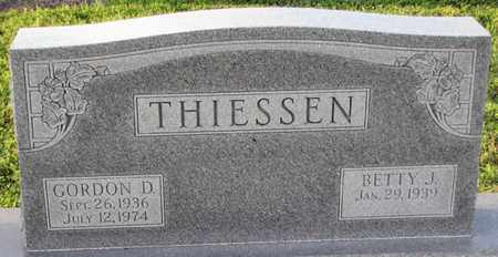 THIESSEN, GORDON D. - Saunders County, Nebraska | GORDON D. THIESSEN - Nebraska Gravestone Photos