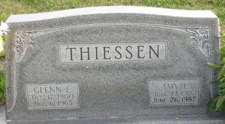THIESSEN, GLENN E. - Saunders County, Nebraska | GLENN E. THIESSEN - Nebraska Gravestone Photos
