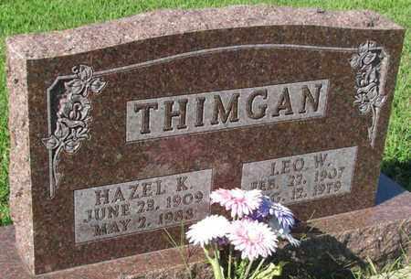 THIMGAN, LEO W. - Saunders County, Nebraska | LEO W. THIMGAN - Nebraska Gravestone Photos
